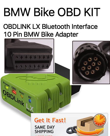 Motoscan BMW Motorcycle OBDLink LX Diagnostic Kit